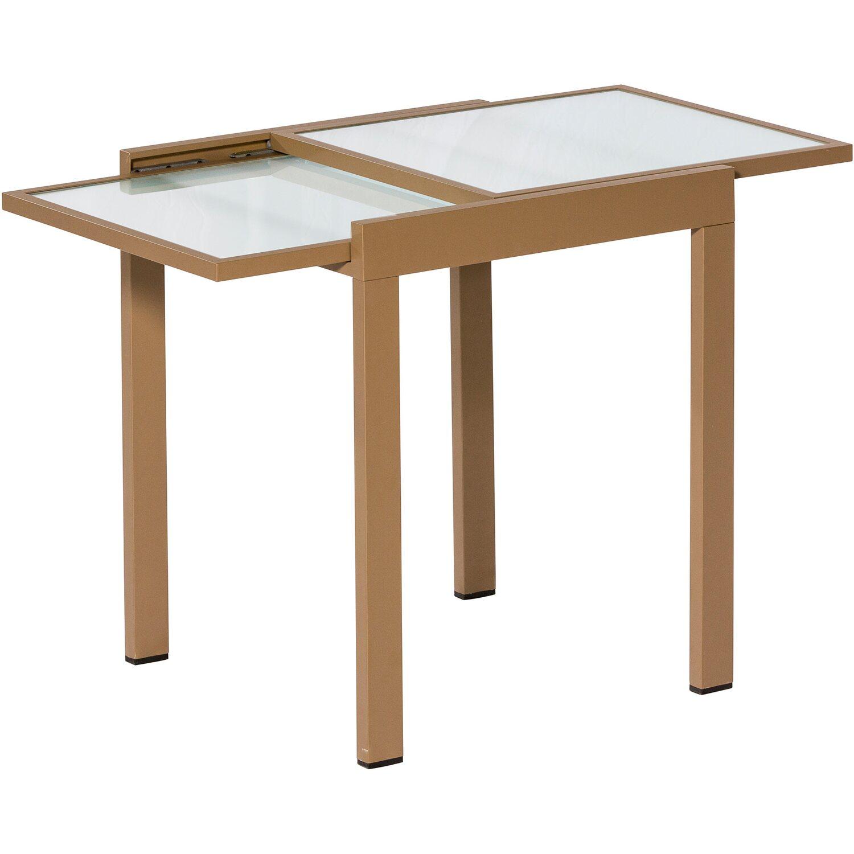 balkontisch 65 130 cm x 65 cm ausziehbar sand matt kaufen bei obi. Black Bedroom Furniture Sets. Home Design Ideas