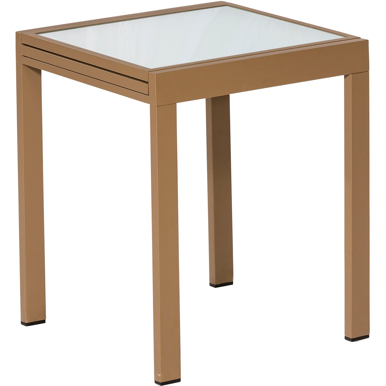 balkontisch 65 130 cm x 65 cm ausziehbar sand matt kaufen. Black Bedroom Furniture Sets. Home Design Ideas