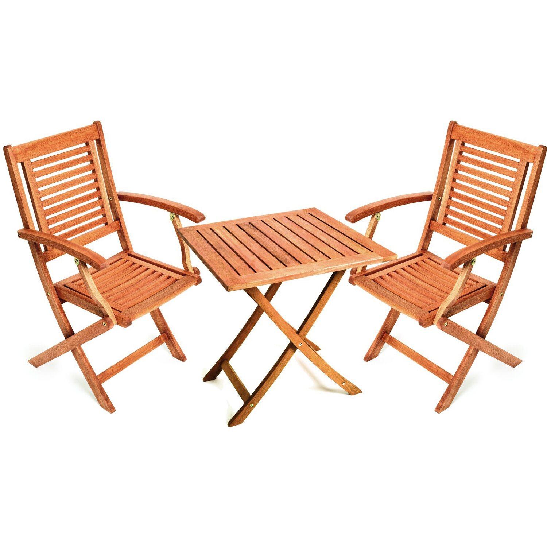 Gartenmöbel-Set Cordoba 3-tlg. Braun Quadratisch kaufen bei OBI
