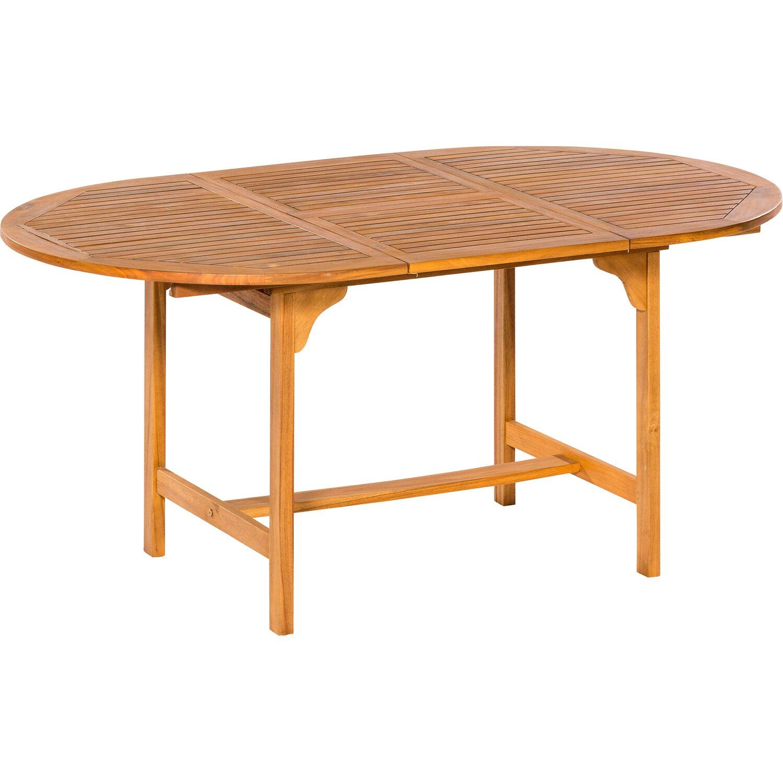 Gartentisch Oval 120 170 Cm X 100 Cm Akazie Ausziehbar Kaufen Bei Obi