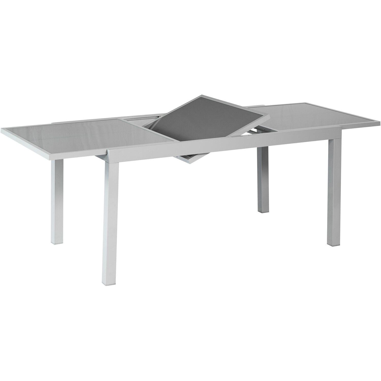 Gartentisch 120 180 Cm X 90 Cm Ausziehbar Grau Kaufen Bei Obi