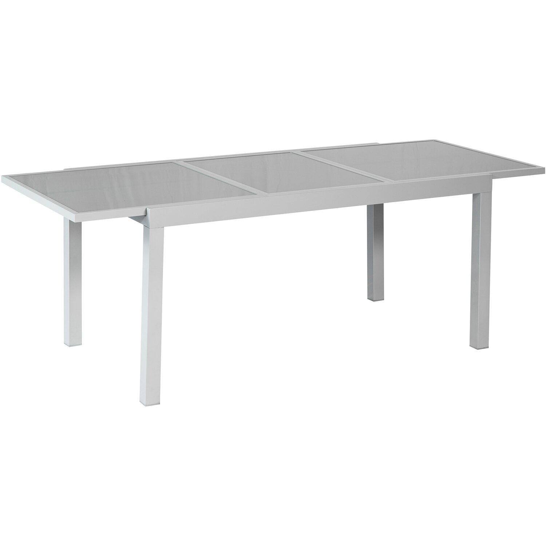 Merxx Gartentisch Rechteckig Aluminium Grau Ausziehbar 140 200 Cm X 90 Cm Kaufen Bei Obi