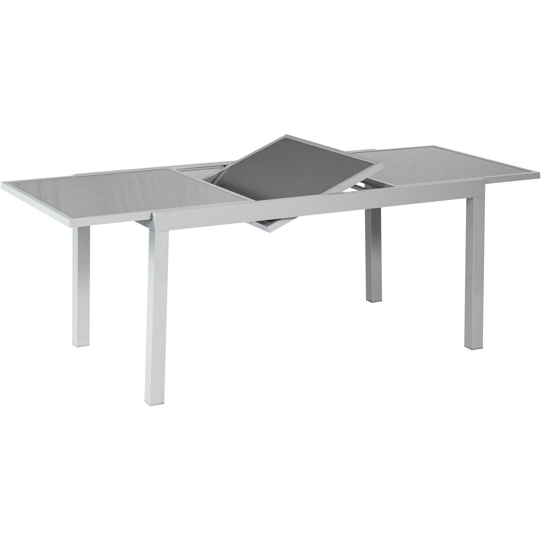 Gartentisch 160 220 Cm X 90 Cm Ausziehbar Grau Kaufen Bei Obi