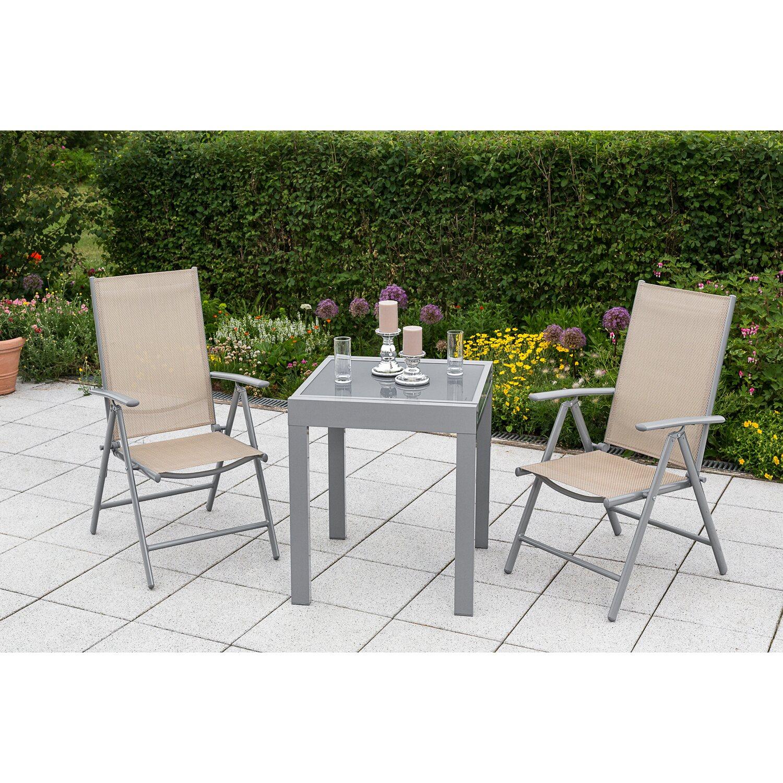 Gartenmöbel-Set Amalfi 3-tlg. Champagner-Grau kaufen bei OBI