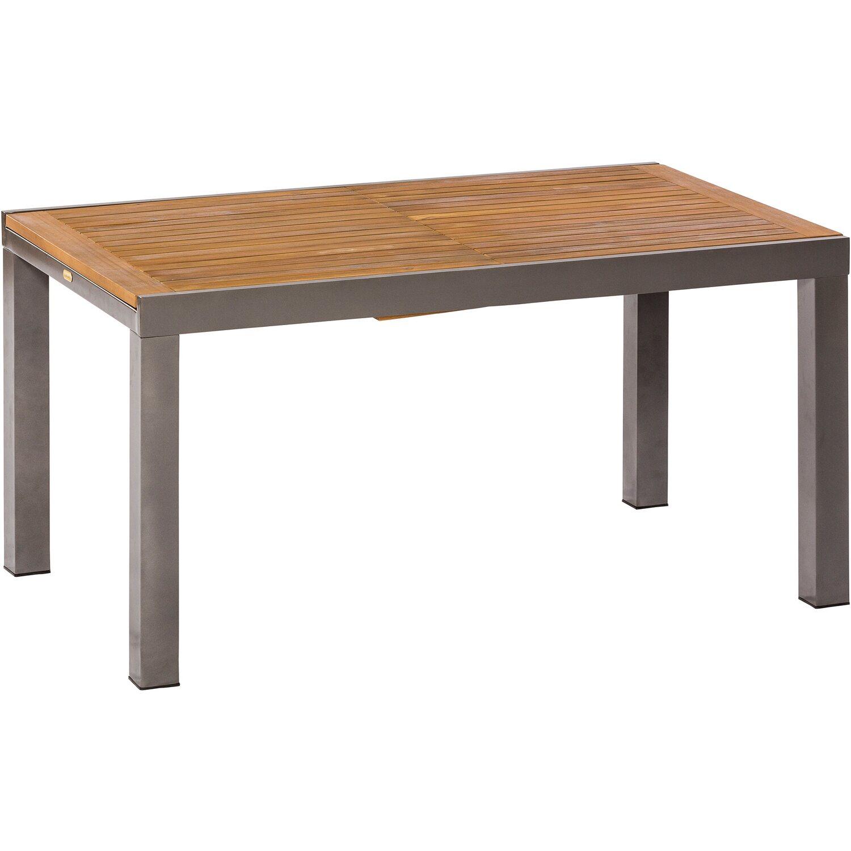 Gartentisch Ausziehtisch Esstisch Tisch oval 150 x 90 cm ausziehbar Holz Akazie