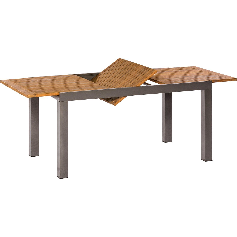 Gartentisch Santorin Braun 150 200 Cm X 90 Cm Kaufen Bei Obi