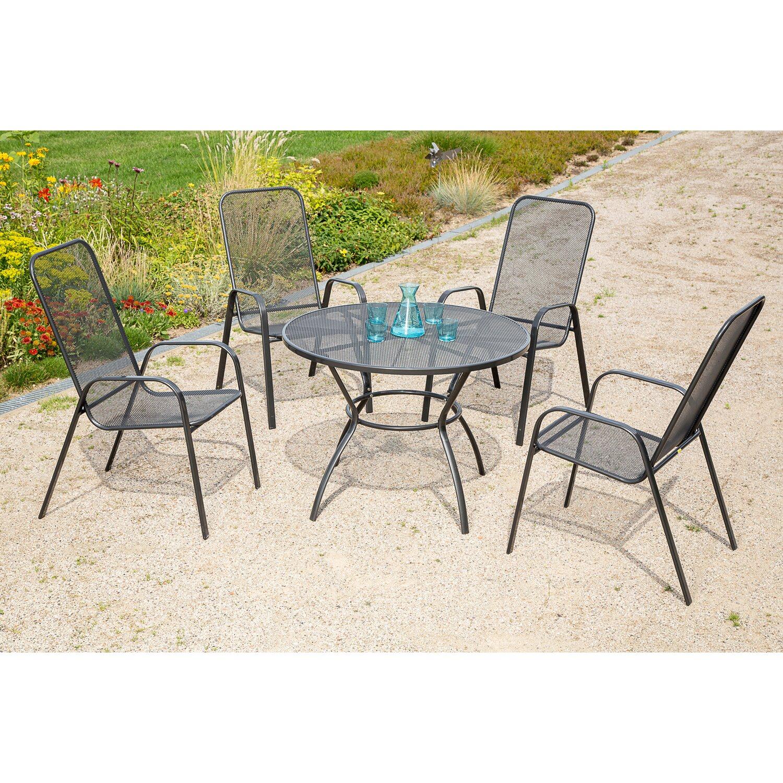 Gartenmöbel-Set Paxos 5-tlg. Graphit kaufen bei OBI