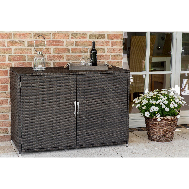 gartenschrank polyrattan 55 cm x 120 cm x 85 cm kaufen bei obi. Black Bedroom Furniture Sets. Home Design Ideas