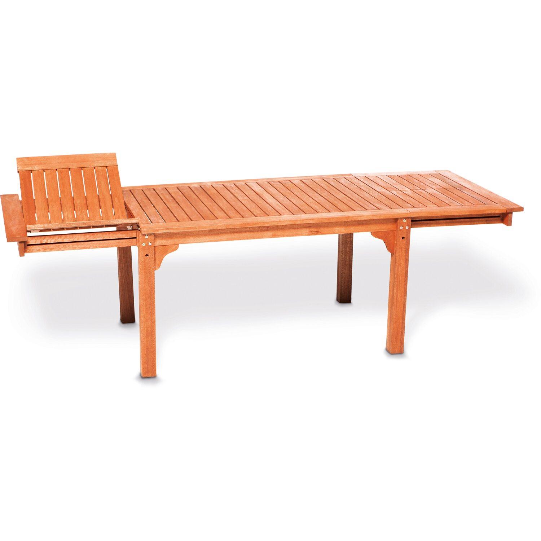 Gartentisch 150 185 220 Cm X 90 Cm Eukalyptus Seitlich Ausziehbar