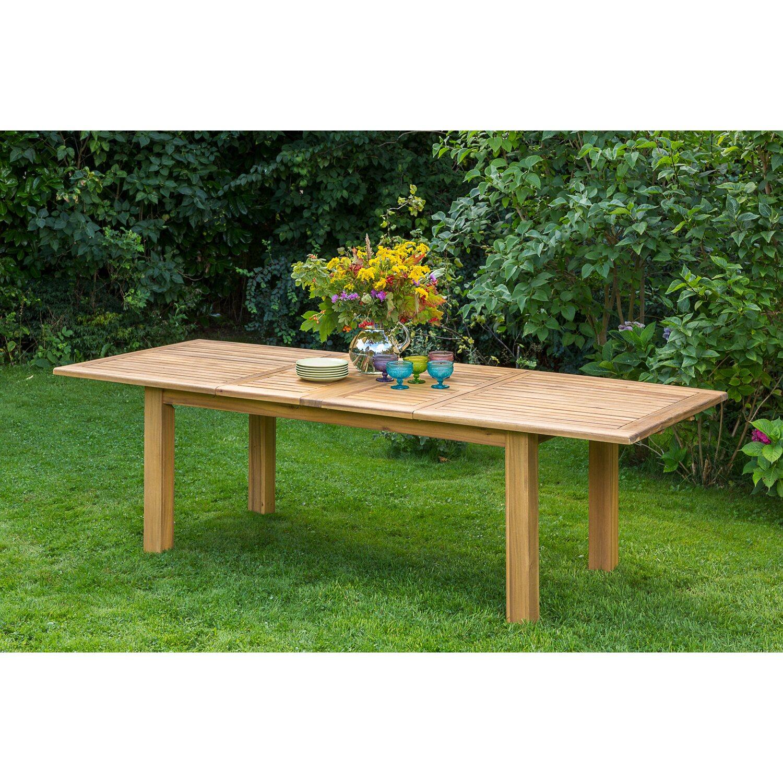 Gartentisch 180 220 260 Cm X 100 Cm Doppel Ausziehbar Akazie Kaufen