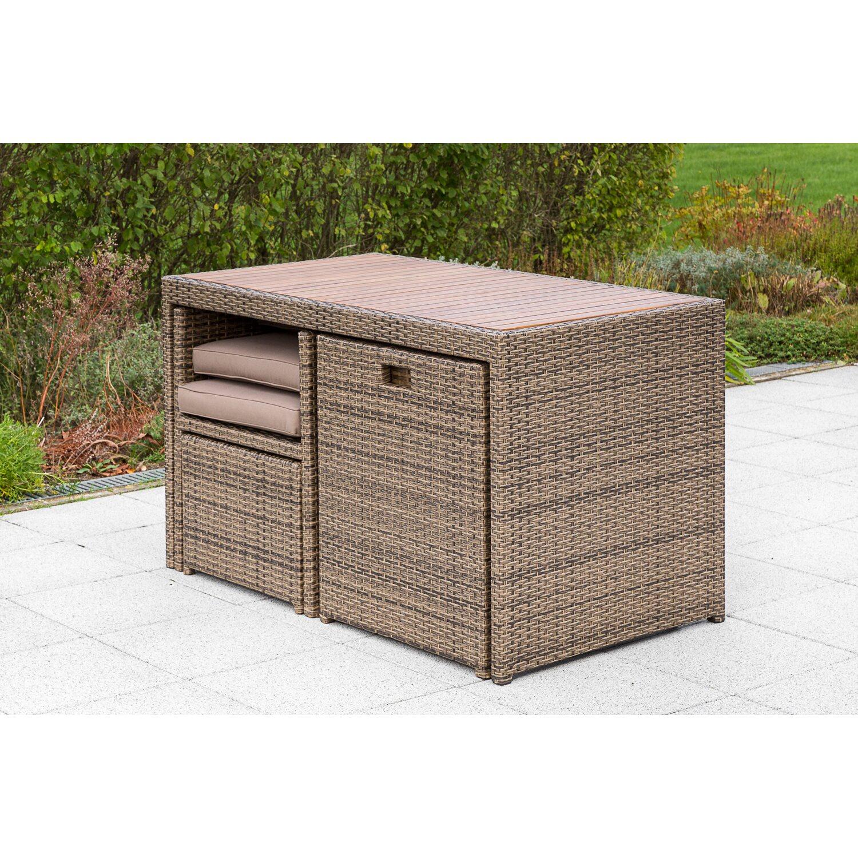 Gartenmöbel Set Merano 11 tlg. Natur kaufen bei OBI