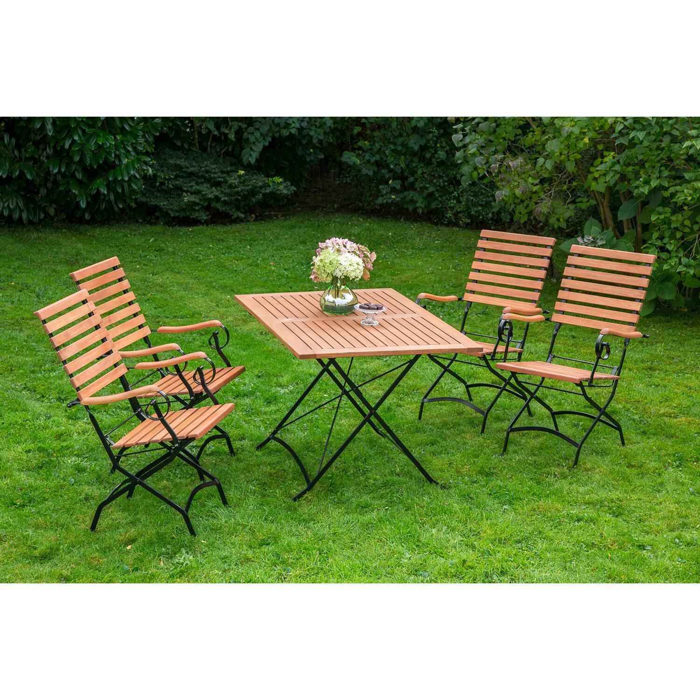 gartenm bel set schlossgarten 5 tlg braun mit hoher r ckenlehne kaufen bei obi. Black Bedroom Furniture Sets. Home Design Ideas