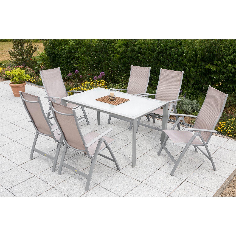 Gartenmöbel-Set Carrara 7-tlg. Champagner inkl. Designtisch kaufen ...