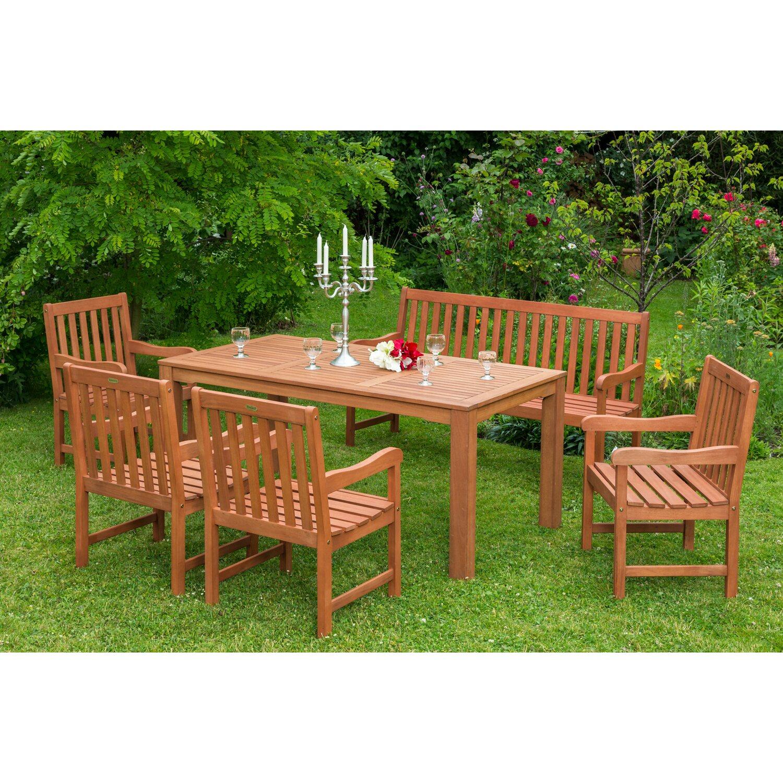 Bevorzugt Gartenmöbel-Set Santos 6-tlg. Braun inkl. 3-Sitzer Bank kaufen bei OBI AJ82