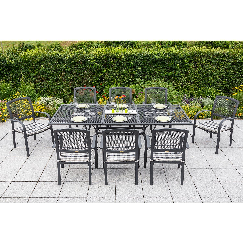 Gartenmöbel-Set Athen 17-tlg. Graphit inkl. Stapelsessel kaufen bei OBI