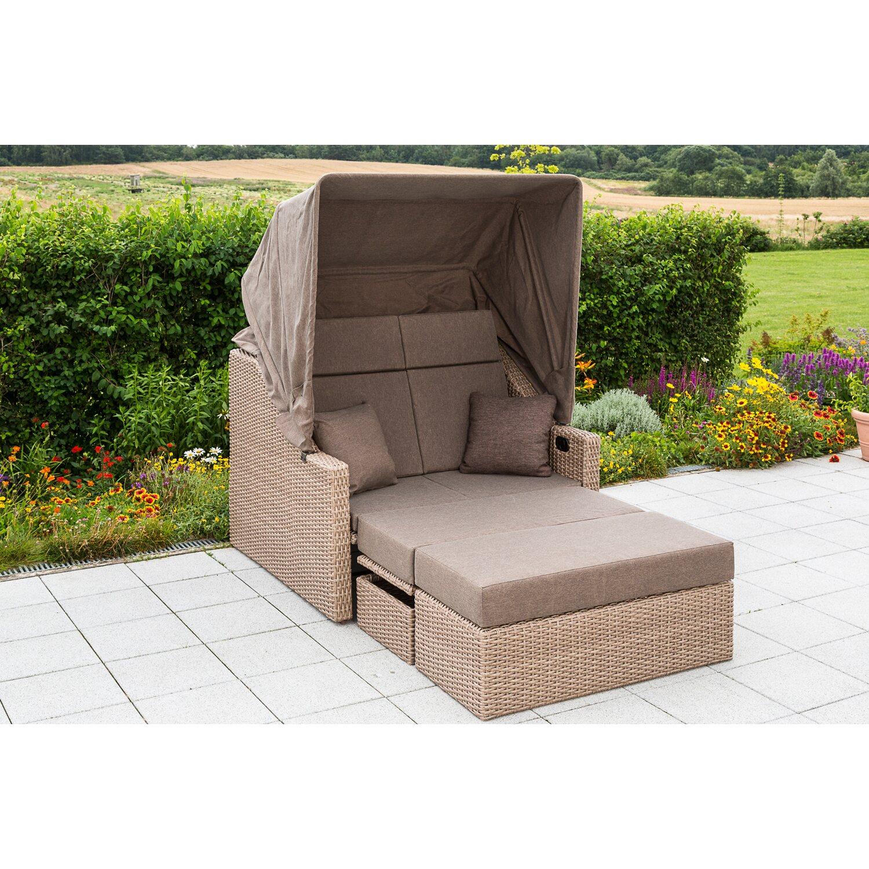 gartenbank rimini natur inkl h lle kaufen bei obi. Black Bedroom Furniture Sets. Home Design Ideas