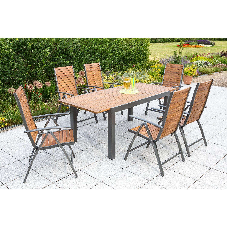 Gartenmöbel Set Santorin 7 tlg. Braun kaufen bei OBI