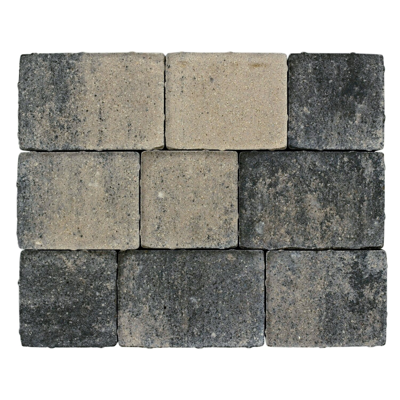 Pflaster Beton Semito Weiß-Schwarz Mehrformat