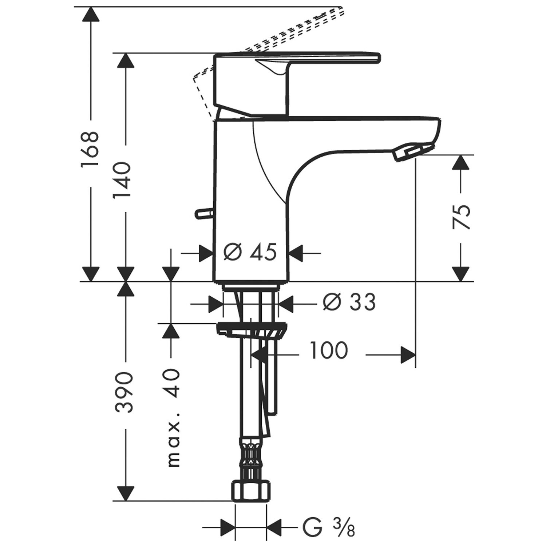 hansgrohe einhebelmischer waschbeckenarmatur talis e2. Black Bedroom Furniture Sets. Home Design Ideas