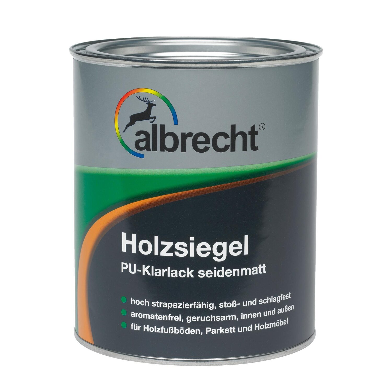 albrecht holzsiegel pu-klarlack transparent seidenmatt 125 ml kaufen