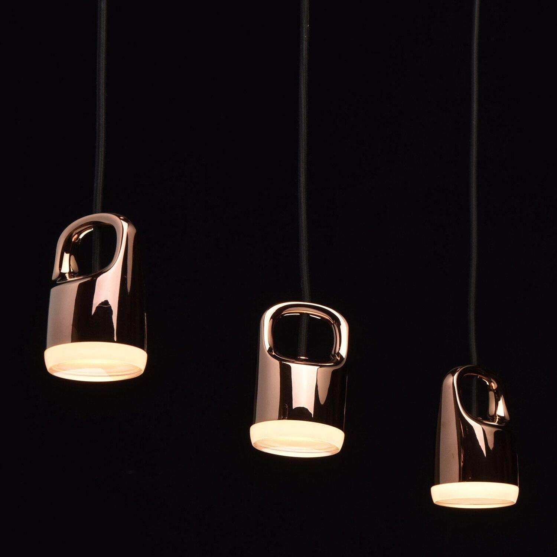regenbogen led pendelleuchte taurus 3 flammig rosegold eek e a kaufen bei obi. Black Bedroom Furniture Sets. Home Design Ideas