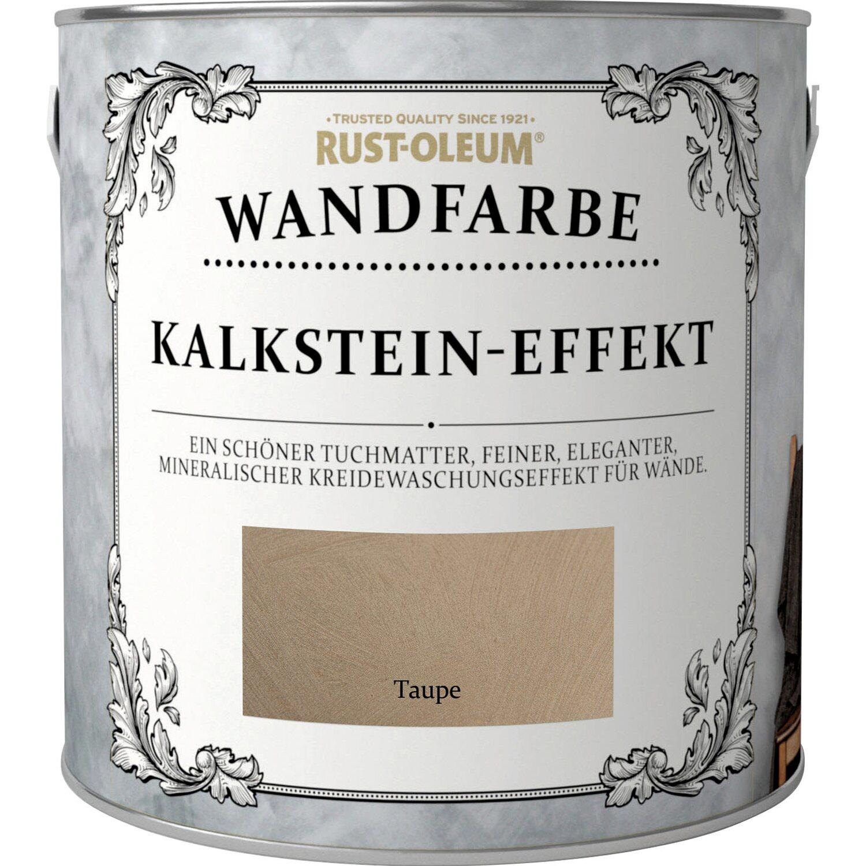 Rust Oleum Kalkstein Effekt Wandfarbe Taupe Matt 2 5 L