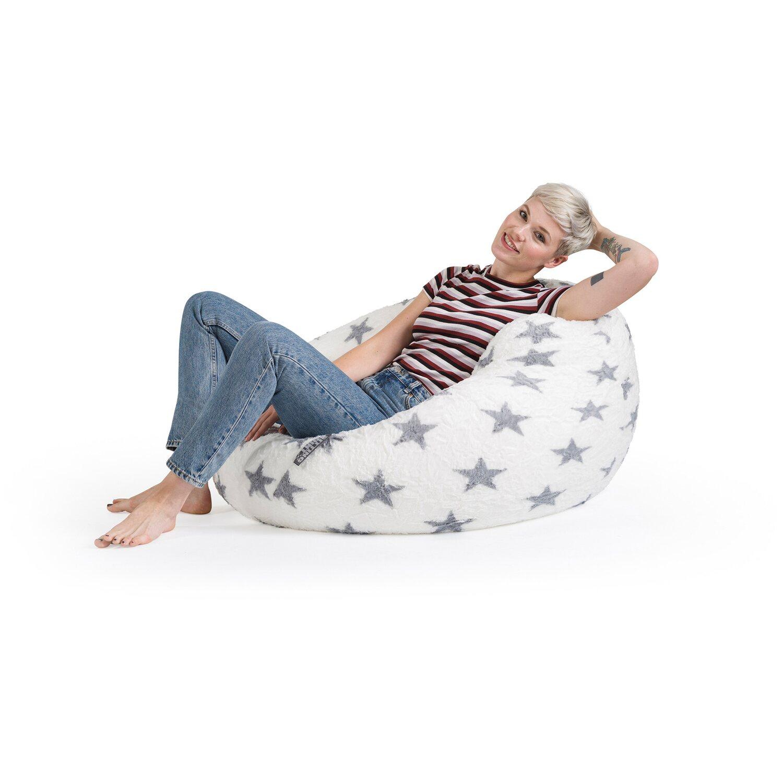 Sitting Point Sitzsack Beanbag Fluffy Stars 220 L Grau Kaufen Bei Obi