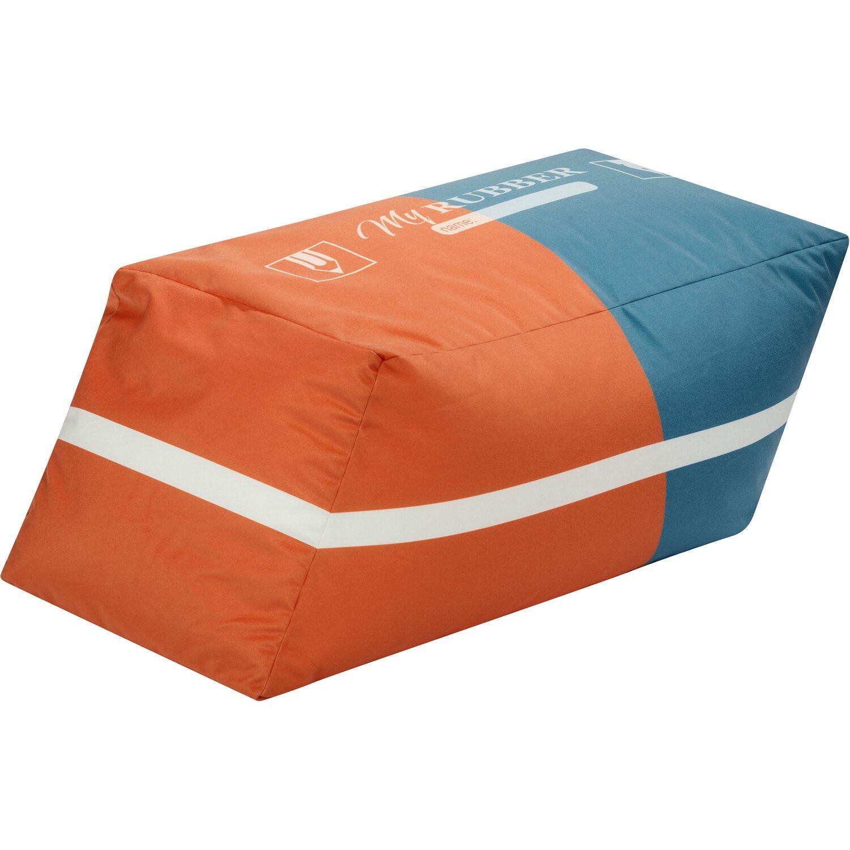 Sitting Point Sitzwürfel Cube Rubber 100 l Rot Blau | Wohnzimmer > Hocker & Poufs > Sitzwürfel | Sitting Point