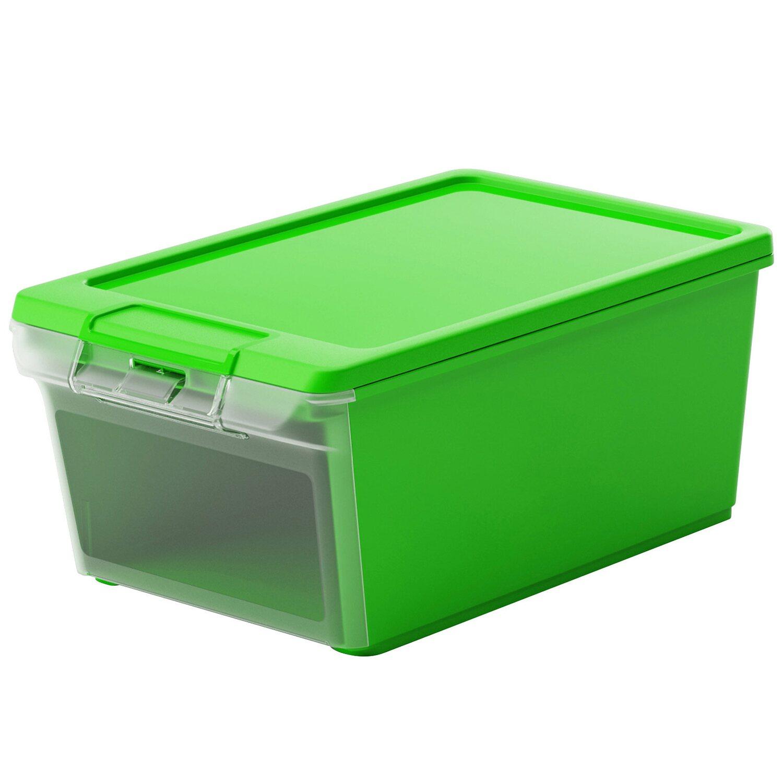 twinbox xs aufbewahrungsbox mit deckel und frontklappe gr n 8 5 l kaufen bei obi. Black Bedroom Furniture Sets. Home Design Ideas