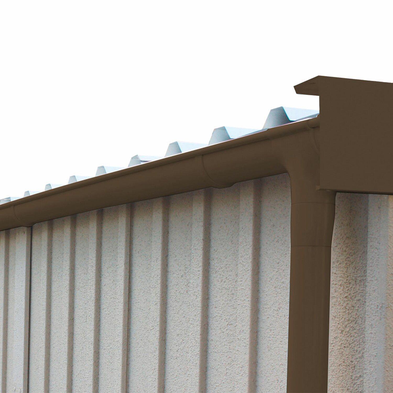 kunststoff dachrinne mit fallrohr und befestigungsmaterial braun kaufen bei obi. Black Bedroom Furniture Sets. Home Design Ideas