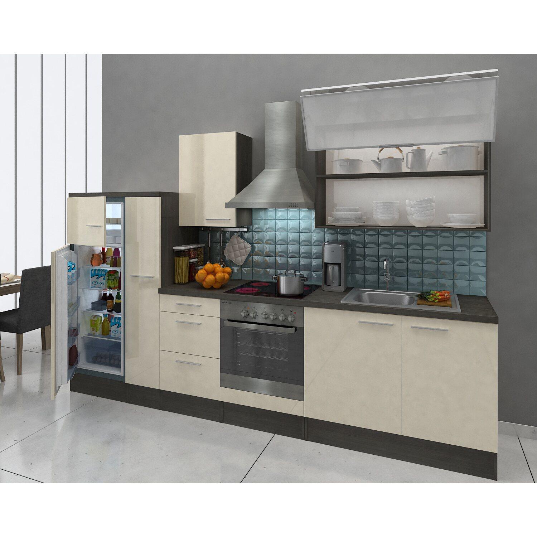 respekta premium k chenzeile rp310evacgke 310 cm vanille eiche grau nachbildung kaufen bei obi. Black Bedroom Furniture Sets. Home Design Ideas
