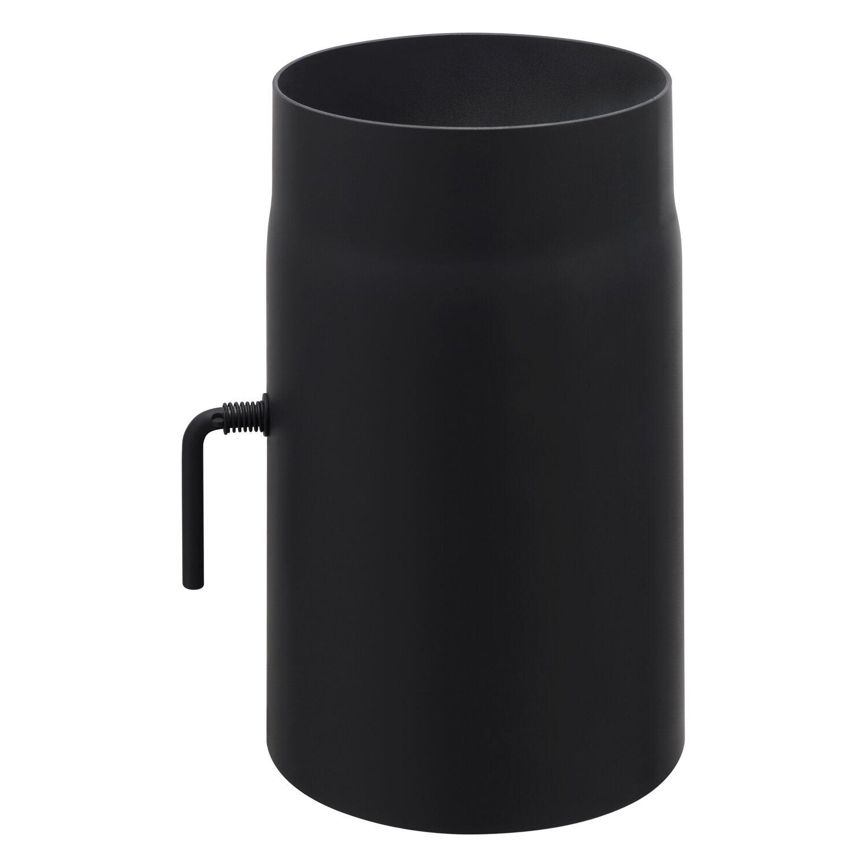 Obi Rauchrohr Mit Drosselklappe O 150 Mm Schwarz Kaufen Bei Obi