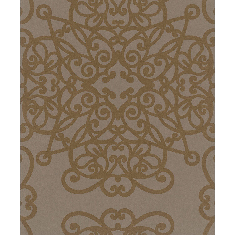 Vliestapete Catania kreisförmige Ornamente Braun-Pearl kaufen bei OBI
