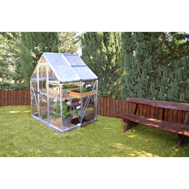 Palram Gewachshaus Hybrid 6x4 Silber Kaufen Bei Obi