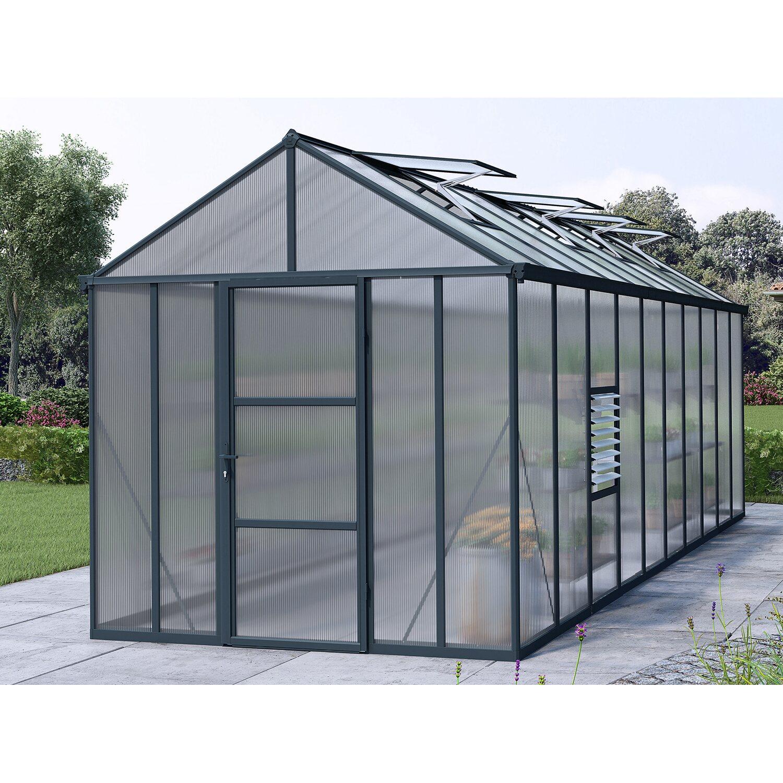 palram gew chshaus glory 8x20 grau kaufen bei obi. Black Bedroom Furniture Sets. Home Design Ideas