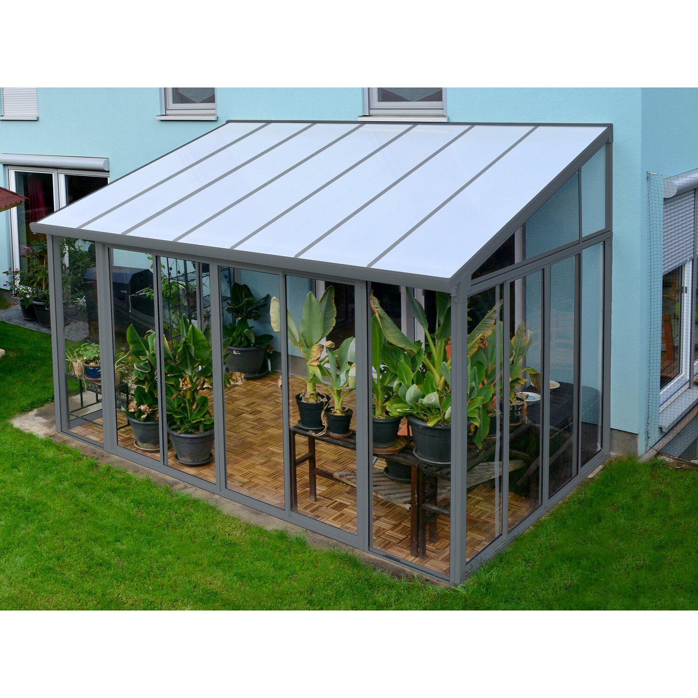 Palram Wintergarten San Remo 3x4 2 Grau Kaufen Bei Obi