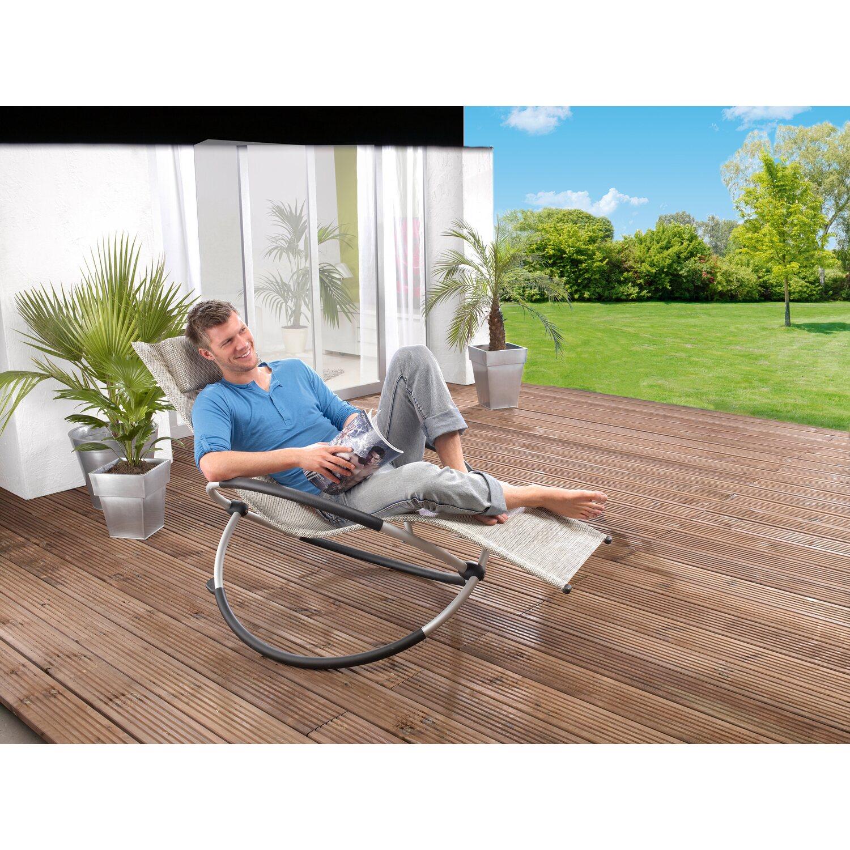 leco schaukelstuhl klappbar schwarz beige silber kaufen. Black Bedroom Furniture Sets. Home Design Ideas