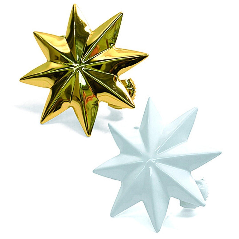 Gardinia Dekoklammer Stern Weiß Ø 8 cm