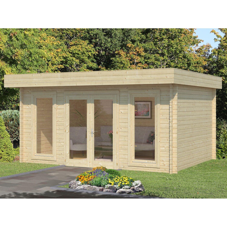 Palmako Holz-Gartenhaus/Gerätehaus Bret B x T: 458 cm x 338 cm Natur ohne Fußboden   Garten > Gartenhäuser   Natur   Palmako