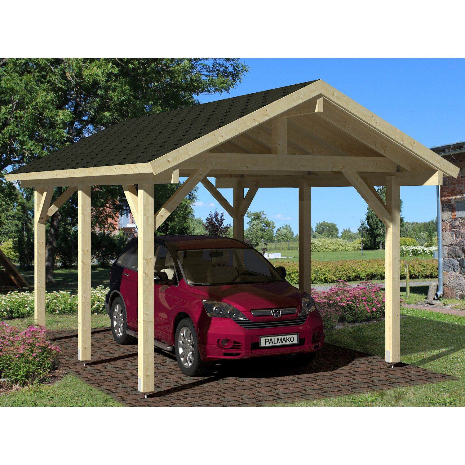 palmako carport robert natur 315 cm x 372 cm kaufen bei obi. Black Bedroom Furniture Sets. Home Design Ideas