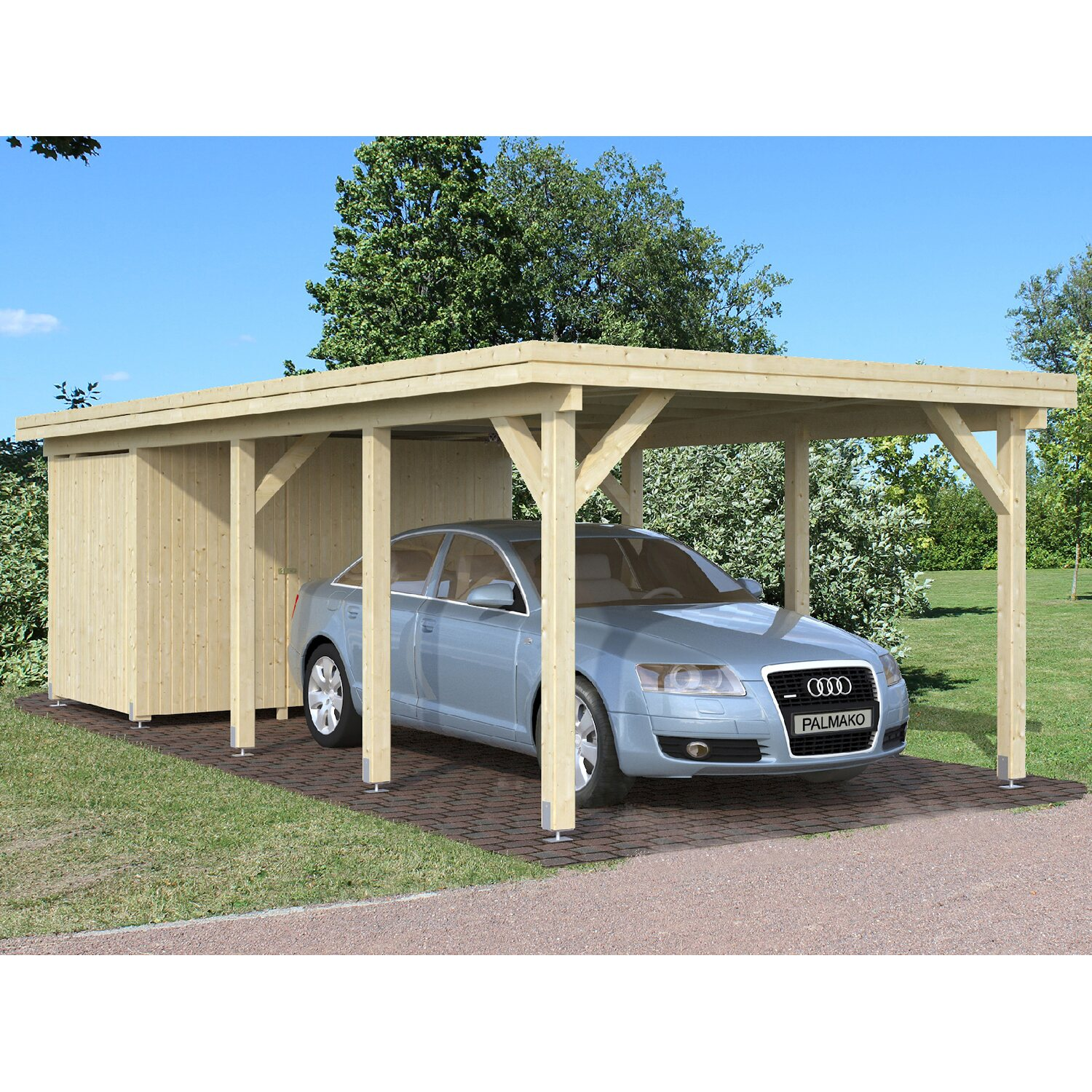 palmako carport karl 360 cm x 762 cm kaufen bei obi. Black Bedroom Furniture Sets. Home Design Ideas