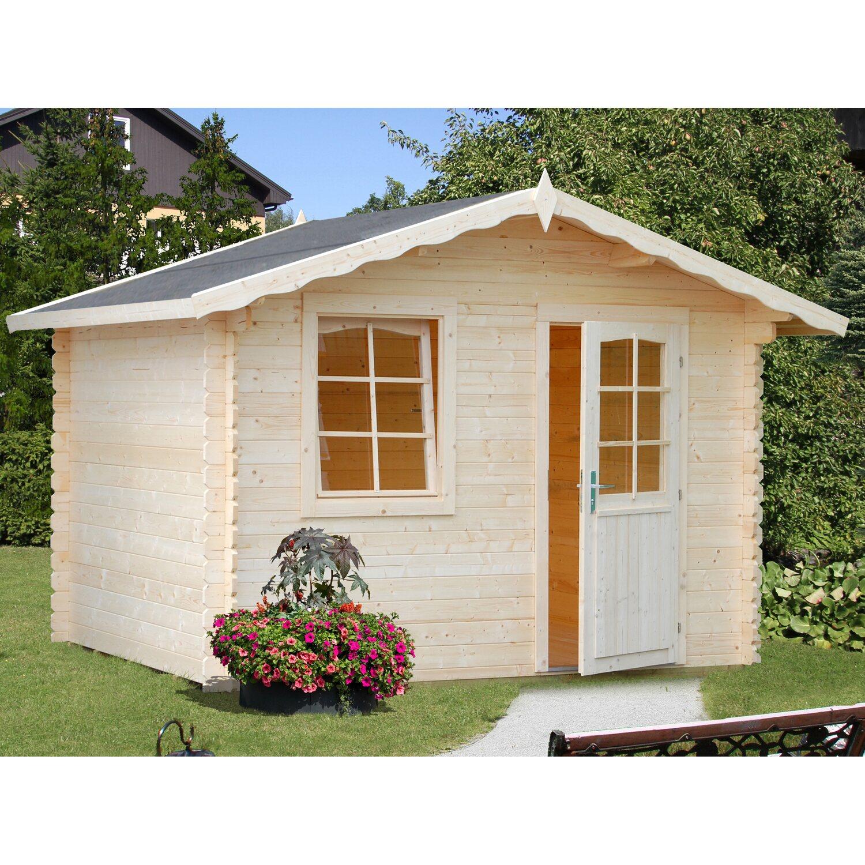 Palmako Holz Gartenhaus Emma Braun B X T 240 Cm X 200 Cm Inkl Fussboden Kaufen Bei Obi