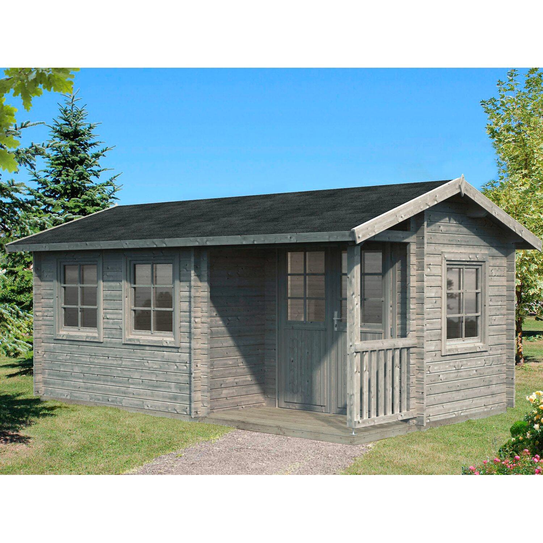 palmako holz gartenhaus susanna grau bxt 510 cm x 300 cm inkl fu boden kaufen bei obi. Black Bedroom Furniture Sets. Home Design Ideas