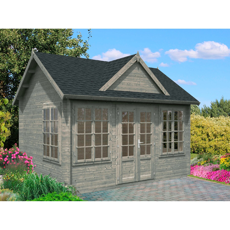 Palmako Holz Gartenhaus Claudia Grau Bxt 400 Cm X 300 Cm Inkl Fussboden Kaufen Bei Obi