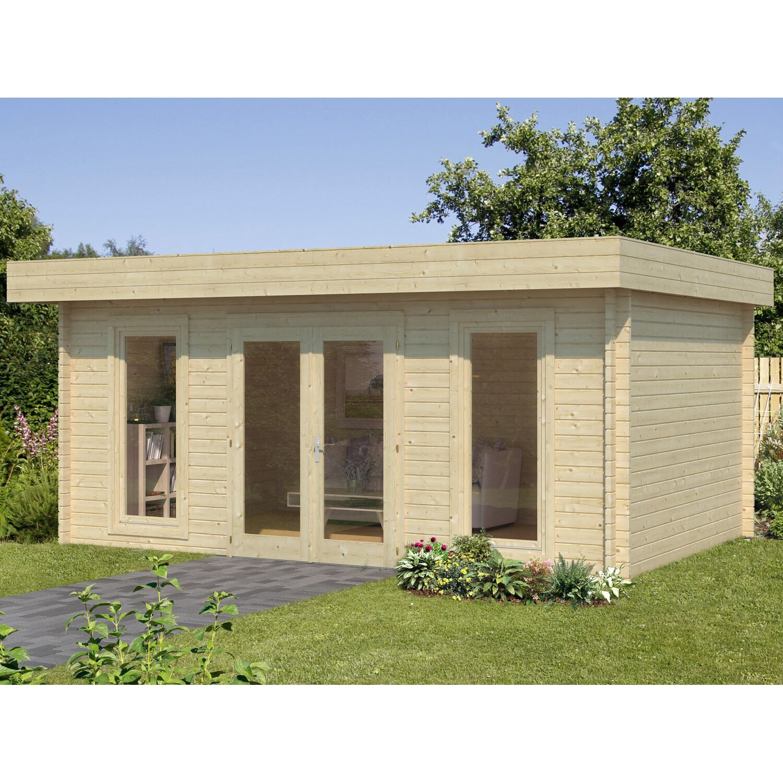 palmako holz gartenhaus bret grau bxt 530 cm x 390 cm ohne fu boden kaufen bei obi. Black Bedroom Furniture Sets. Home Design Ideas