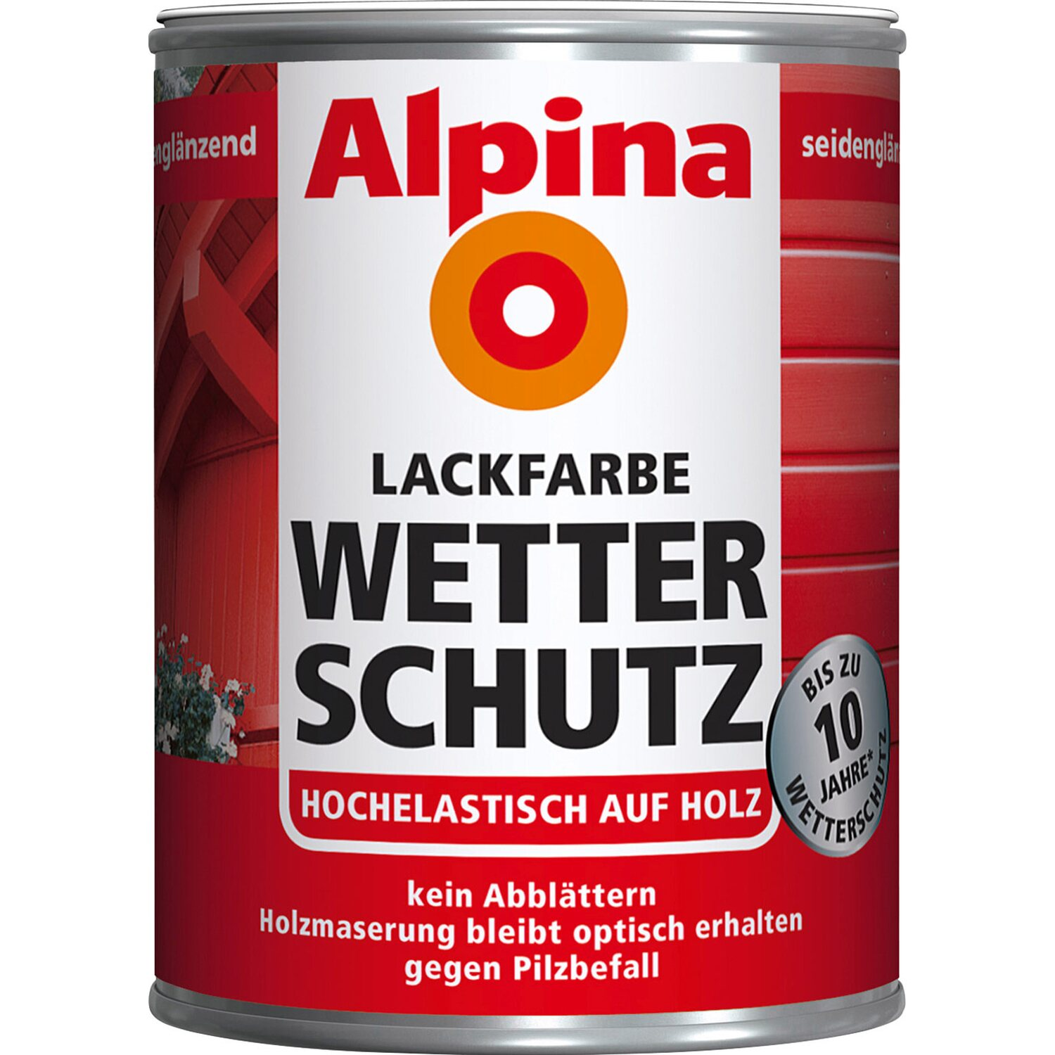 alpina lackfarbe wetterschutz wei seidengl nzend 500 ml. Black Bedroom Furniture Sets. Home Design Ideas
