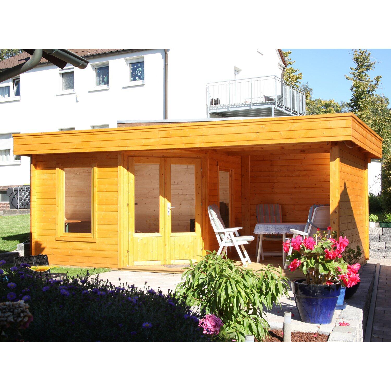 Wolff Finnhaus Holz-Gartenhaus Maja 40-A BxT 549 x 299 cm dav. 250 cm  Terrasse