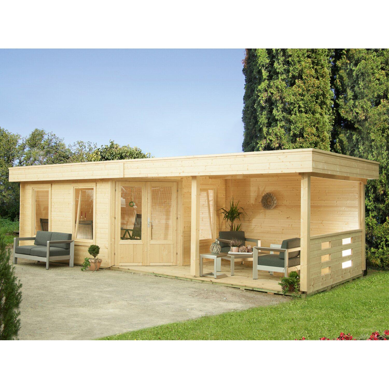 Wolff Finnhaus Holz Gartenhaus Maja 20 B BxT 20 x 20 cm dav. 20 cm  Terrasse