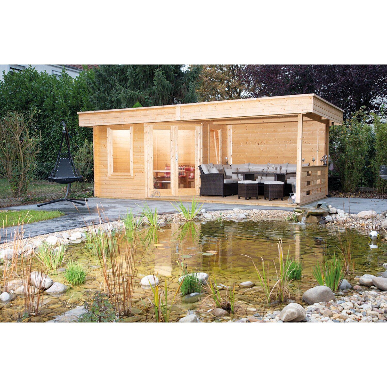 Wolff Finnhaus Holz-Gartenhaus Nina 28-B m Terrasse kaufen bei OBI