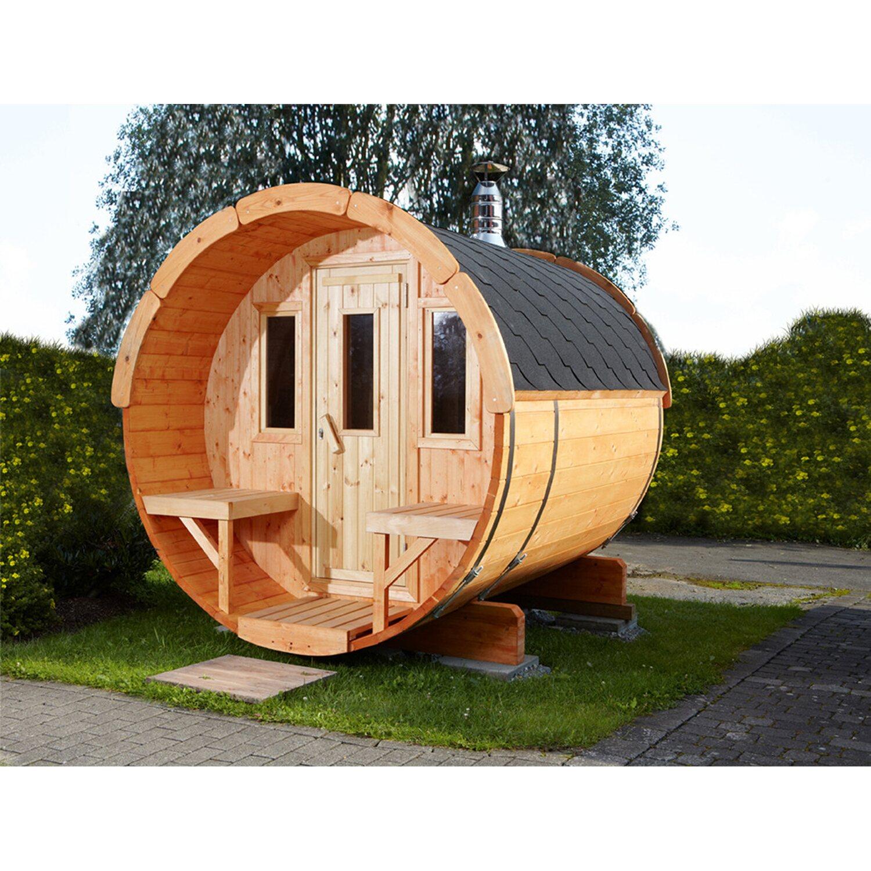 Wolff Finnhaus Saunafass 250 Bausatz Schwarz kaufen bei OBI